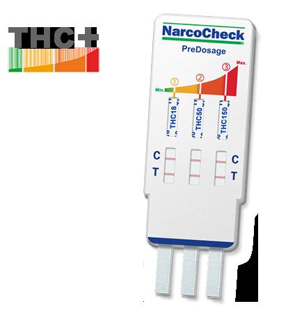 Cannabis (THC)-Test mit Vordosierung - 3 Nachweisgrenzen
